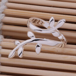 New fashion Plated silver  the branch of tree ring adjustable hot gift