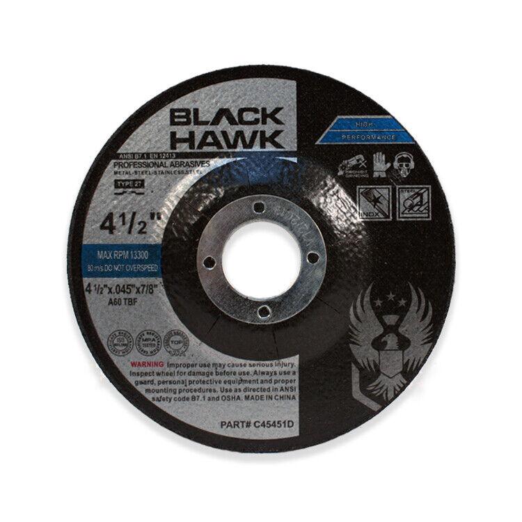 "25 Pack - 4-1/2"" x .045"" x 7/8"" Depressed Center Cut-Off Wheel T27 Cutting Discs"