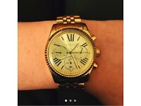 Michael Kors gold plated watch