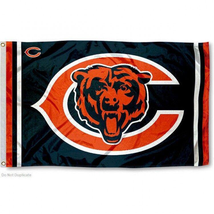 CHICAGO BEARS FLAG 3'X5' NFL LOGO BANNER: FREE SHIPPING