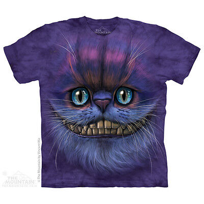 Big Face Cheshire Cat Kids T Shirt By The Mountain  Kittens Sizes S Xl New