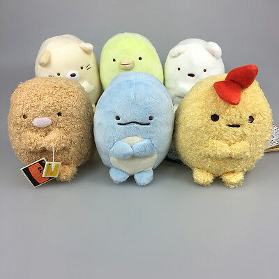 SAN-X Sumikko gurashi Plush Stuffed Japan Figures Sumikkogurashi 4'' 1pc