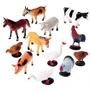 Us Toy Company Farm Animals 12 Piece 2386 Plastic Figures