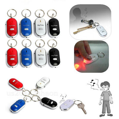 Lost Key Thing Finder Whistle Sound Control Led Seeker Alarm Locator Tracker Lot