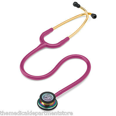3m Littmann Classic Iii Stethoscope Rainbow-finish Raspberry 27 Edition