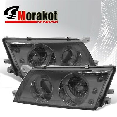 For 95-98 Nissan Sentra/200SX Replacement 3 LED Halo Projector Smoke - Nissan 200sx Headlight Replacement