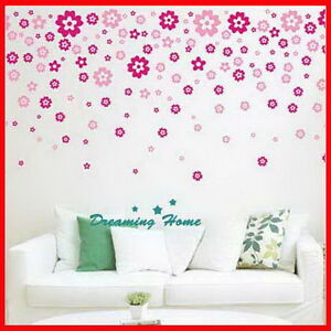 Floral-rain-flower-Wall-decals-Removable-stickers-decor-art-kids-nursery-home