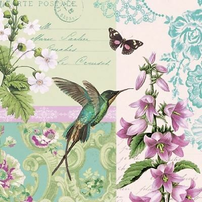 4 x Paper Napkins - Hummingbird - Ideal for Decoupage / Napkin Art