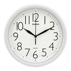 Casio 10 Analog Quartz Round White Resin Wall Clock IQ01-7R