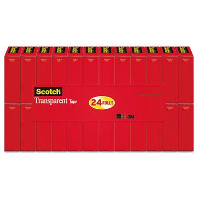 Scotch Transparent Tape 34 X 1000 1 Core Clear 24pack 600k24