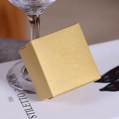 60th Anniversary Favors (100x Pearl Gold Paper Gift Boxes Wedding Anniversary 60th Birthday Party)