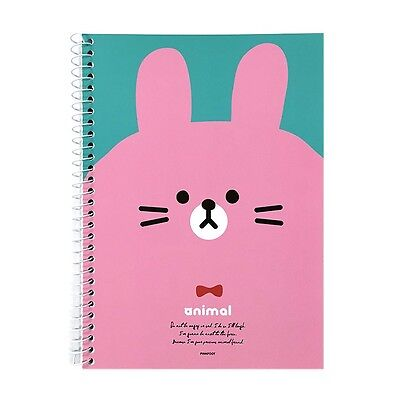 Animal Mini A5 Size Spiral Blank Notebook Note Pad : Pink Rabbit