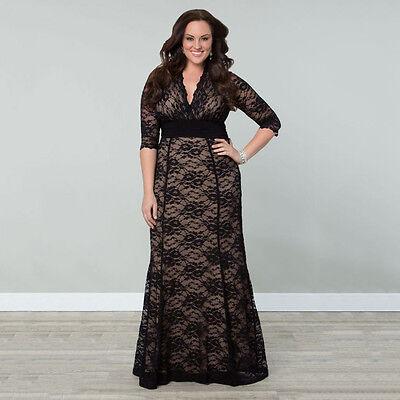 grande taille pour femmes habill long lacets robe de bal mariage soire - Robe Habille Pour Mariage Grande Taille