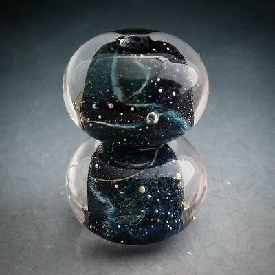 Naos Glass Sky Diamonds Pair Made To Order Handmade Lampwork Beads SRA (Glasses Order)