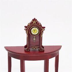 Vintage Dollhouse Miniature Classic Desk Table Mantle Clock 1:12 Toy Home Decor