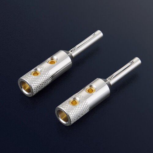 Viborg VB401S Pure Copper Silver Plated Banana Plug Speaker Cable Connector HIFI