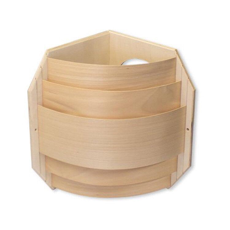 Sauna Blendschirm Eckmontage - Schichtholz für Saunaleuchten + Leuchtenfassungen