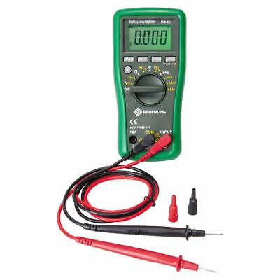 Greenlee Textron Dm-45 Digital Multimeters Manual Ranging Multi-purpose