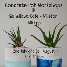 Workshop- Learn about concrete planter pot making Willetton Canning Area Preview
