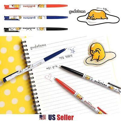 Sanrio Gudetama Lazy Egg 3pcs Ballpoint Pen Set : Black, Blue, Red