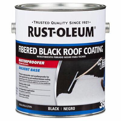 Rust-Oleum 301909 350 Fibered Black Roof Coating gal