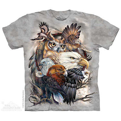 Sky Kings T-Shirt by The Mountain. Eagle Owl Birds Bugs Sizes S-5X NEW](Birds T)
