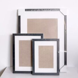 Black Wood Picture Photo Frames - Handmade - Mount Board - 30x40 - 18x24 - 15x21