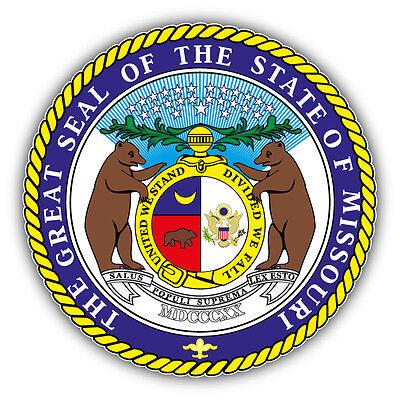 Missouri State Seal (Missouri State Great Seal USA Car Bumper Sticker Decal 5'' x 5'')