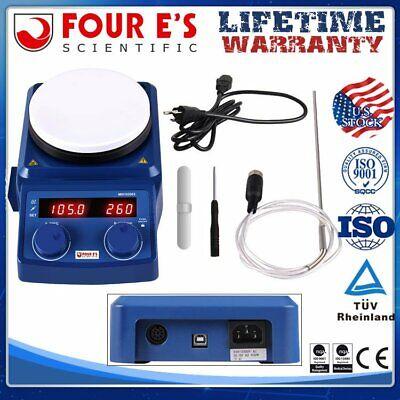 Four Es 5 Inch Led Digital Hotplate Magnetic Stirrerpt1000 Probe 100-1500rpm