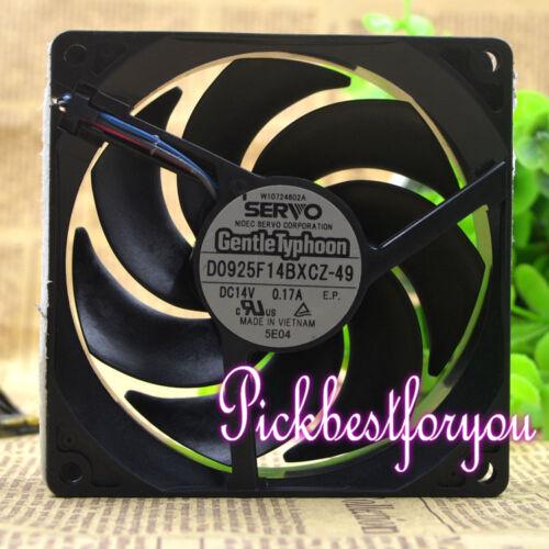 SERVO GentleTyphoon D0925F14BXCZ-49 9CM 14V 0.17A Scythe fan #M222A QL