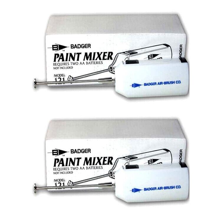 Badger 121 Airbrush Paint Mixer Battery Operated 2 pcs