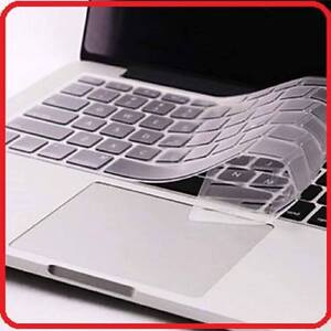"""Macbook Clear Silicone Keyboard Cover for size 13"""" 15"""" and 17"""""""