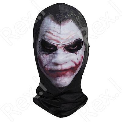 BATMAN - THE DARK KNIGHT - Movie 3D JOKER FACE Mask Balaclava Hood - Batman Face Mask