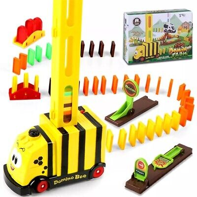 Bee Domino Train. 100 Piece Automatic Electric Domino Laying Train For Kids.