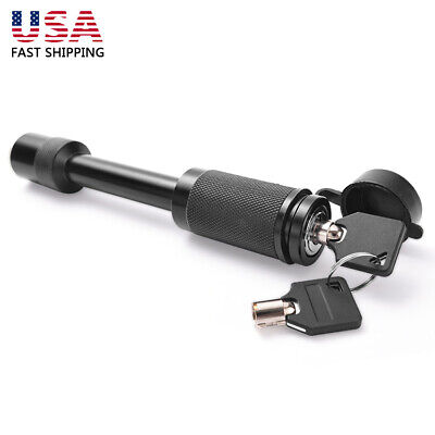 Upgrade 5/8 in Hitch Pin Lock w/Keys for RV Truck Trailer Tow Receiver Universal - Locking Trailer Hitch Pin