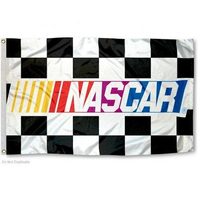 NASCAR CHECKERED FLAG 3'X5' NASCAR RACING BANNER: FREE -