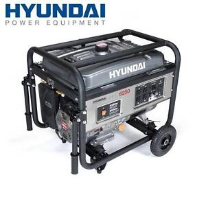 NEW HYUNDAI PORTABLE GENERATOR - 129182385 - 6250 Watt 4-Stroke Portable Heavy Duty Generator