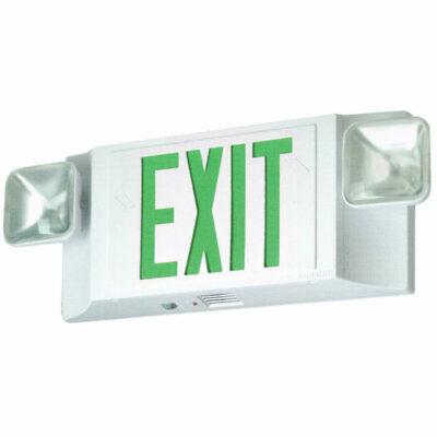 New Astralite L.e.d Exit Sign Emergency Light Combination Unit Eeu-2-led-g-w