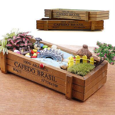 Kitchen Window Wooden Herb Box Planter Indoor Outdoor Garden Kit Plant Seeds Pot