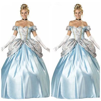 Cinderella Aschenputtel Prinzessin Kleid Kostüm Damen Frauen Dress Cosplay Party (Cinderella Kleid Damen)