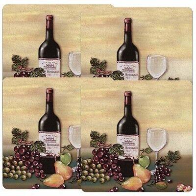 Reston Lloyd Gas Burner Covers, Set of 4, Barnyard, Wine and Vines, New
