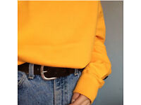 Vintage Oversized Yellow Sweatshirt