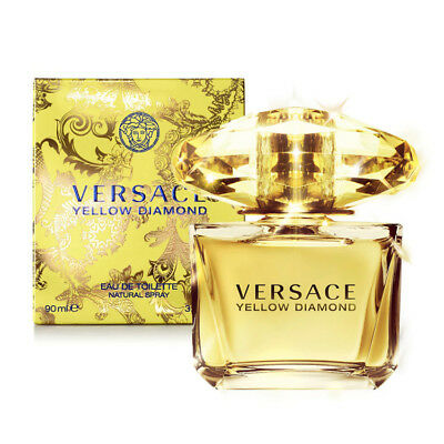 VERSACE YELLOW DIAMOND 90ml EDT Eau de Toilette Spray New Sealed Box~FREE POST