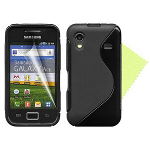 Colour Gel Silicone Case Cover for Samsung Galaxy Ace S5830 + Screen Protector