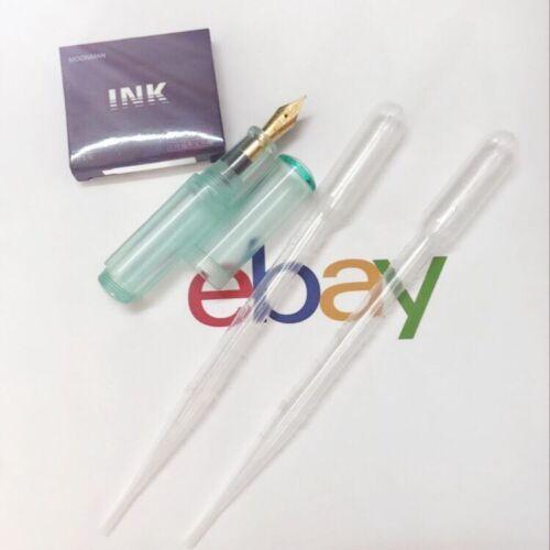 Moonman Wancai Mini Ink Sac Transparent Mint Pattern Fountain Pen Fine Nib 0.5mm