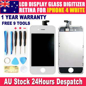 For Apple iphone 4 4G 4th gen LCD display touch screen Digitizer replacement AU