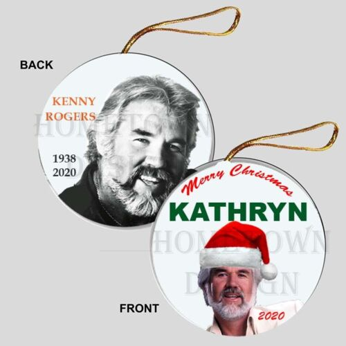 PERSONALIZED Kenny Rogers Christmas Ornament - Gift Tribute Memorial Gambler
