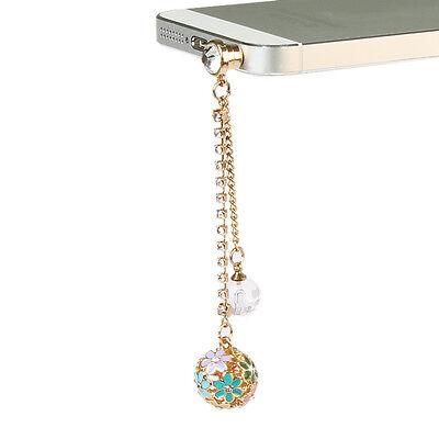 Universal Anti Diamond Ball Dust Plug Charm 3.5mm Ear Jack Cell Phone Chain - Phone Charms