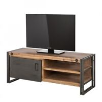 Meuble TV en bois d'acacia exotique style artemano