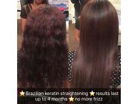 Brazilian Keratin straightening